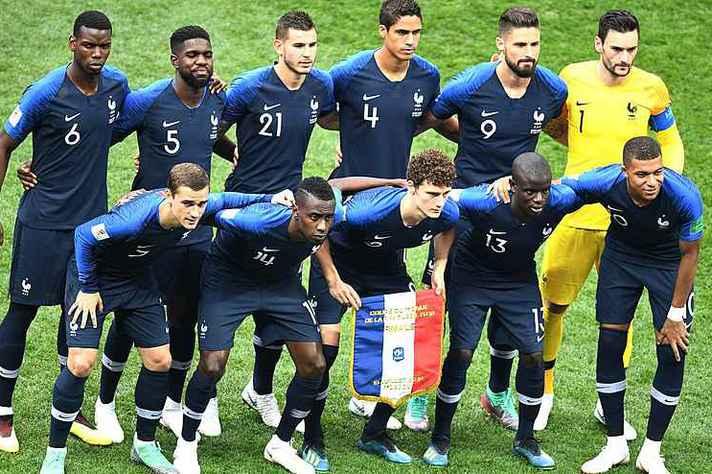 Seleção francesa, vitoriosa na Copa do Mundo 2018
