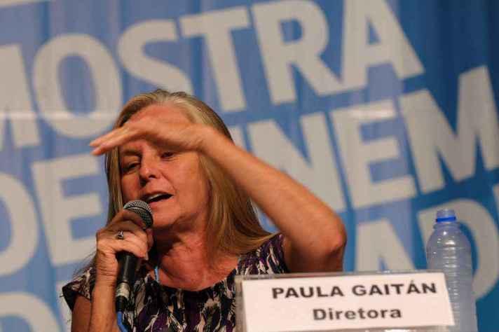 Paula Gaitán em debate na 12ª Mostra de Cinema de Tiradentes
