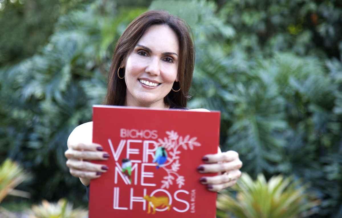 Lina Rosa, autora do livro Bichos vermelhos
