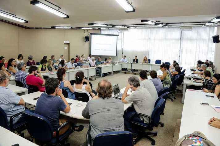 Cerca de 70 dirigentes, pesquisadores e técnicos estiveram reunidos na Reitoria