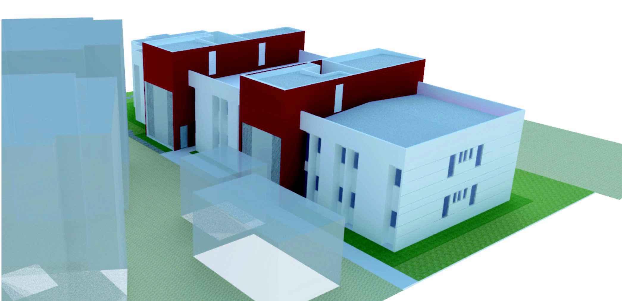 Perspectiva da fachada da nova moradia em Montes Claros