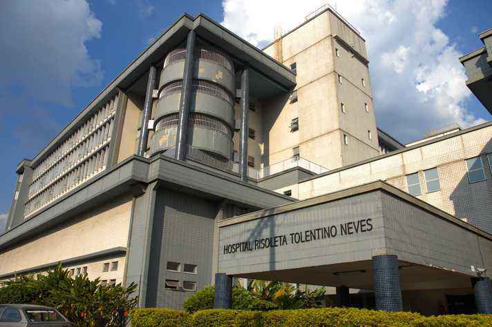 Fachada do Hospital Risoleta Tolentino Neves administrado pela UFMG