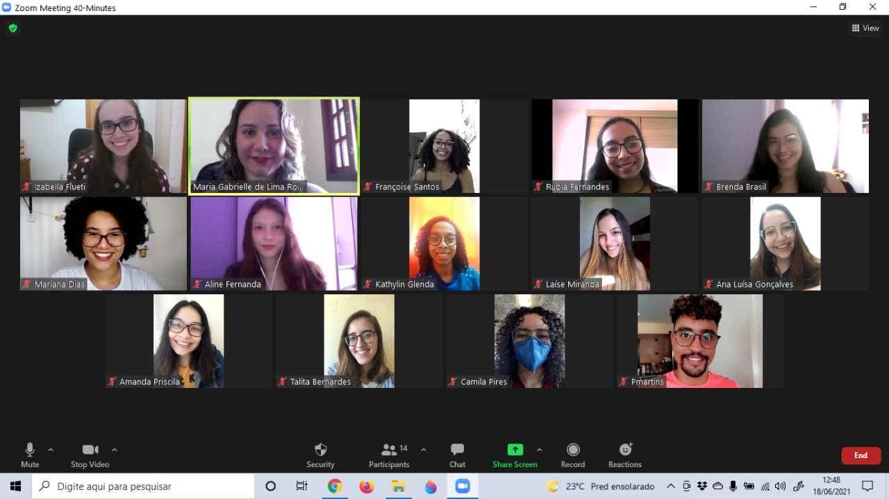 Vinte e dois estudantes da Faculdade de Farmácia se reúnem virtualmente para decidir as abordagens