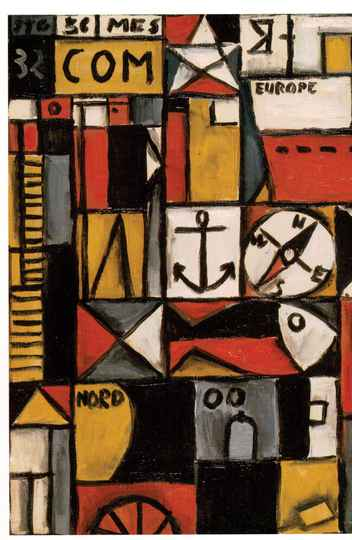 Constructif avec boussole, de Joaquín Torres-García (óleo sobre cartão, 1932)