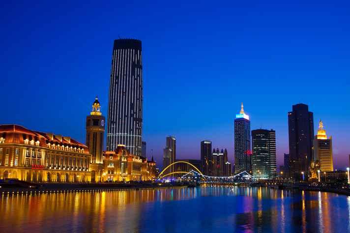 Centro financeiro de Tianjin, na China