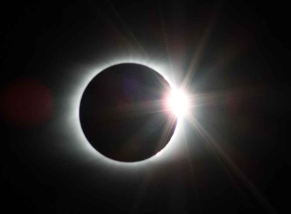 Imagem do eclipse de 29 de maio de 1919