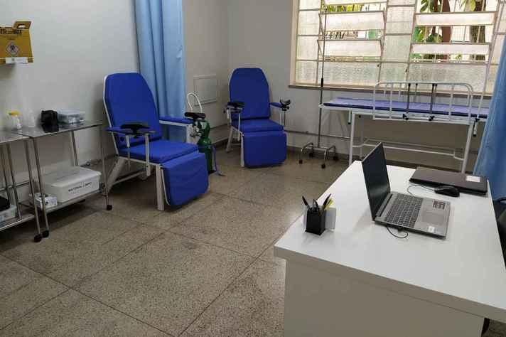 Estrutura conta com dois consultórios, área de atendimento e salas de observação para a realização de testes com voluntários