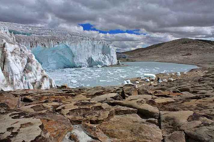 Geleira Quelccaya, no Peru: