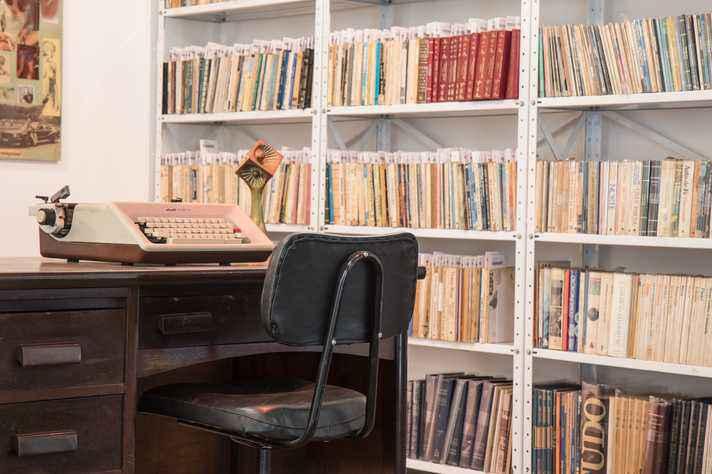 Espaço do Acervo dos Escritores Mineiros, na Biblioteca Central da UFMG