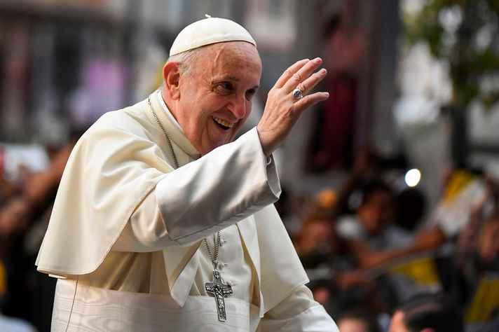Papa Francisco em Santiago do Chile. Janeiro de 2018.