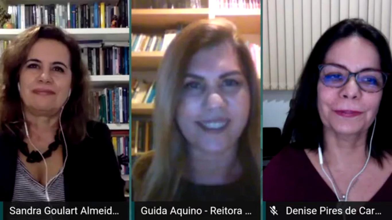 Sandra Goulart, Guida Aquino e Denise Pires: