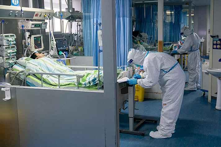 UTI de um hospital na China destinada a tratamentos de pacientes infectados pelo novo coronavírus