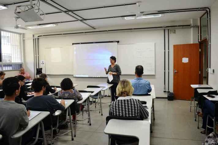 Sala de aula em disciplina ofertada pelo IEAT