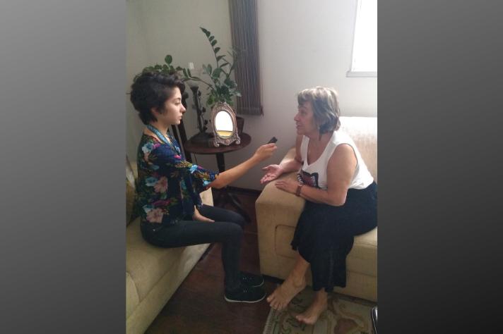 Militante política Maria Christina Rodrigues também em entrevista concedida à repórter Luana Lima