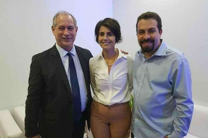 Ciro Gomes (PDT) , Manuela Dávila (PCdoB) e Guilherme Boulos (PSOL): esquerda segue sem articulação