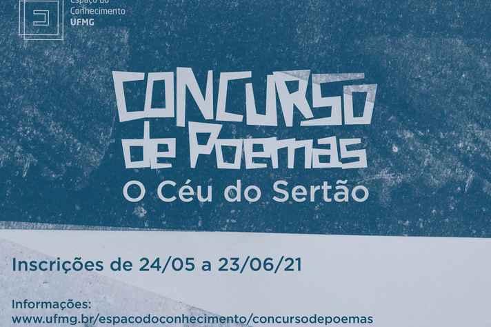 Cartaz do concurso de poemas 'O Céu do Sertão'