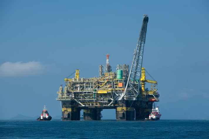 Plataforma de petróleo da Petrobras