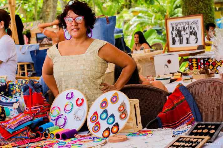A artesã peruana Marinela Herrera teve seu trabalho impactado pelo cancelamento de feiras e outros eventos