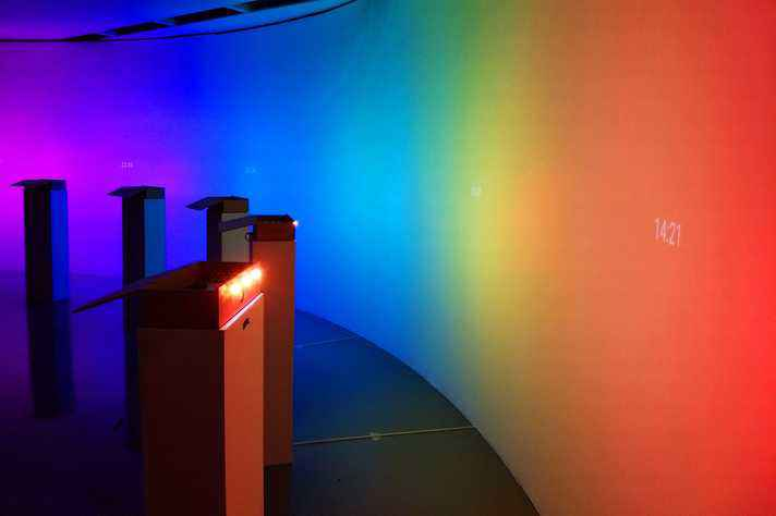 Obra 'Tempo: cor', que integra a mostra 'Recodificações'