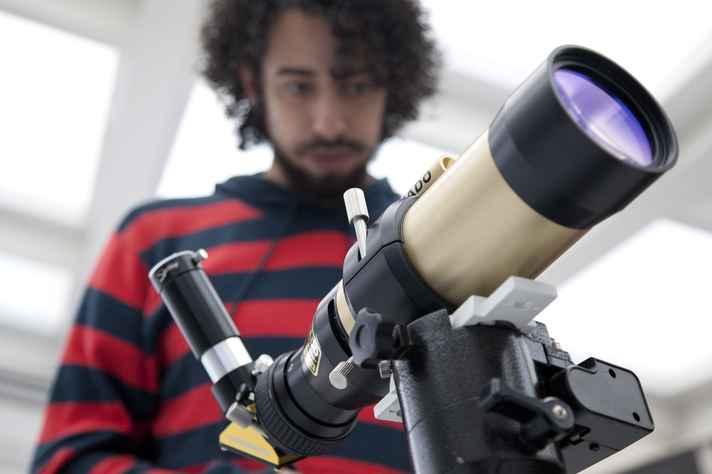 Telescópio Solar utilizado na observação de Mercúrio