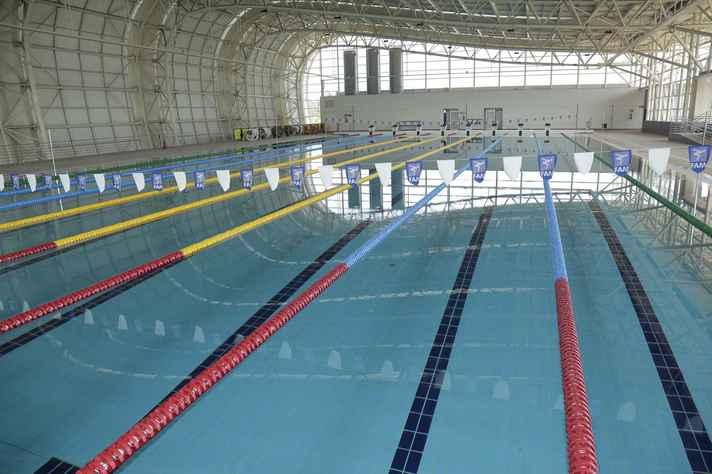 Parque aquático, uma das principais instalações do Centro de Treinamento Esportivo