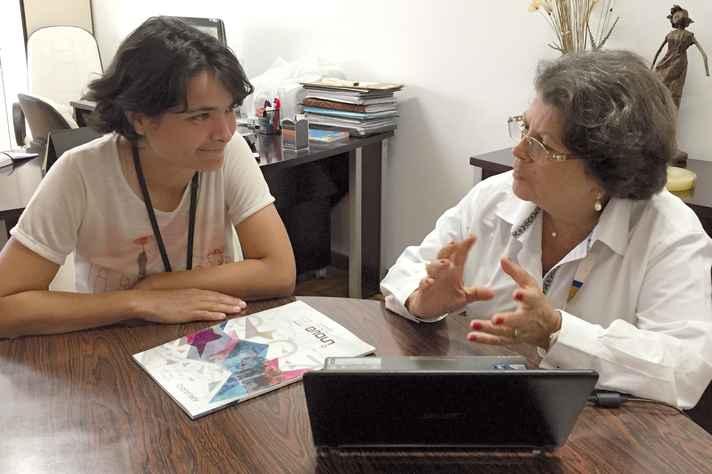 Patrícia e Sônia: orientação em casa para mudar estilo de vida