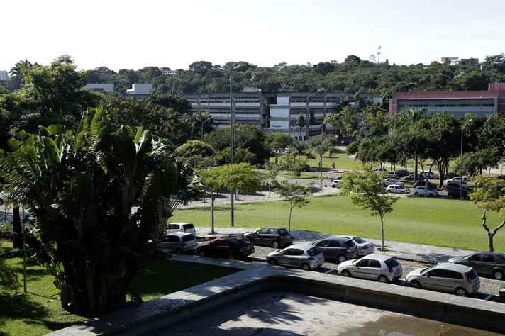Vista parcial da região central do campus Pampulha