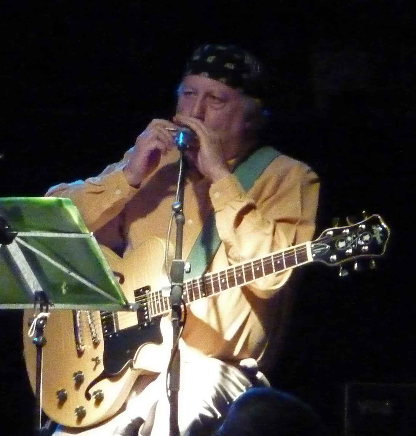 Peter Green, durante apresentação, em 2009