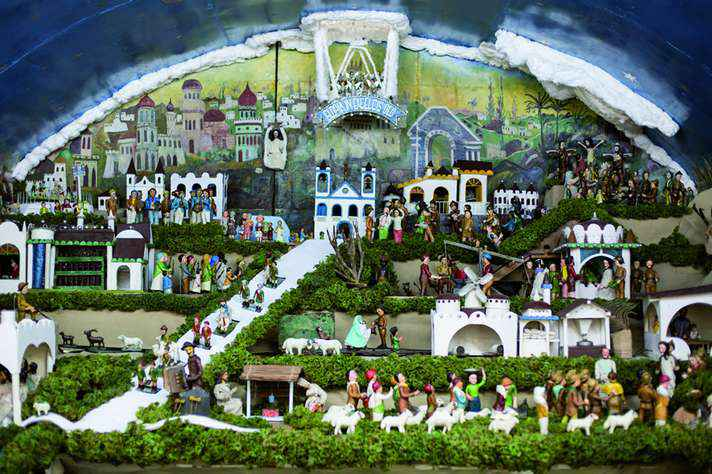 Presépio do Pipiripau é composto de 45 cenas, 586 personagens e cerca de três mil objetos