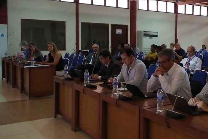 Acadêmicos de países lusófonos durante o 26º Encontro da AULP