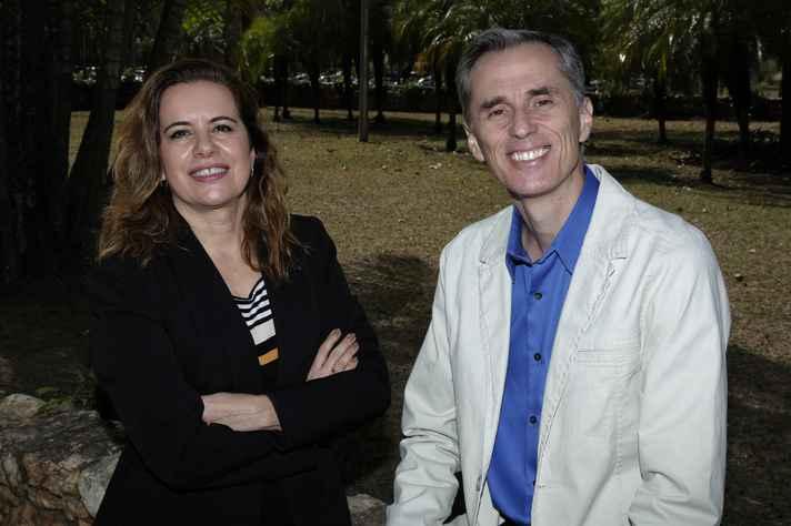 Reitora Sandra Goulart Almeida e vice-reitor Alessandro Moreira