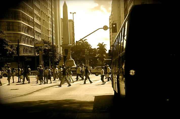 Praça Sete, no centro de BH