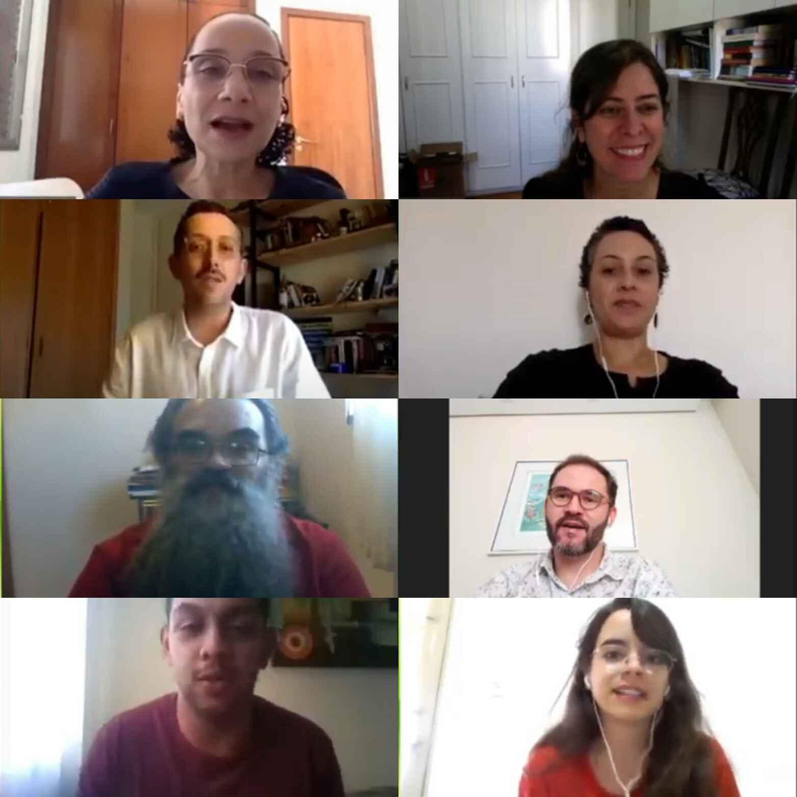 Participantes do fórum on-line que debateram a retomada dos cursos da área de educação