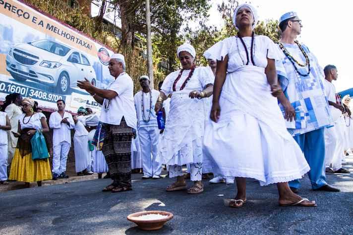 Ato em defesa das tradições de matriz africana, em Santa Luzia