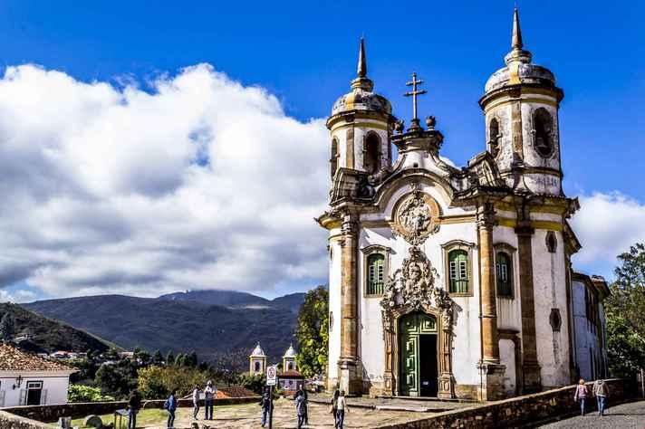 Igreja de São Francisco de Assis, em Ouro Preto, criação de Aleijadinho: grandes mestres de origem africana, como Aleijadinho