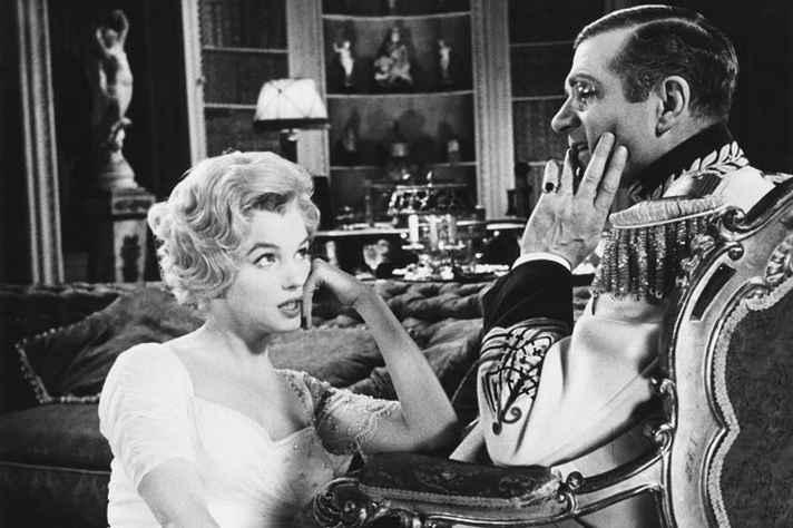 Cena de 'O príncipe encantado', com Marilyn Monroe e Laurence Olivier
