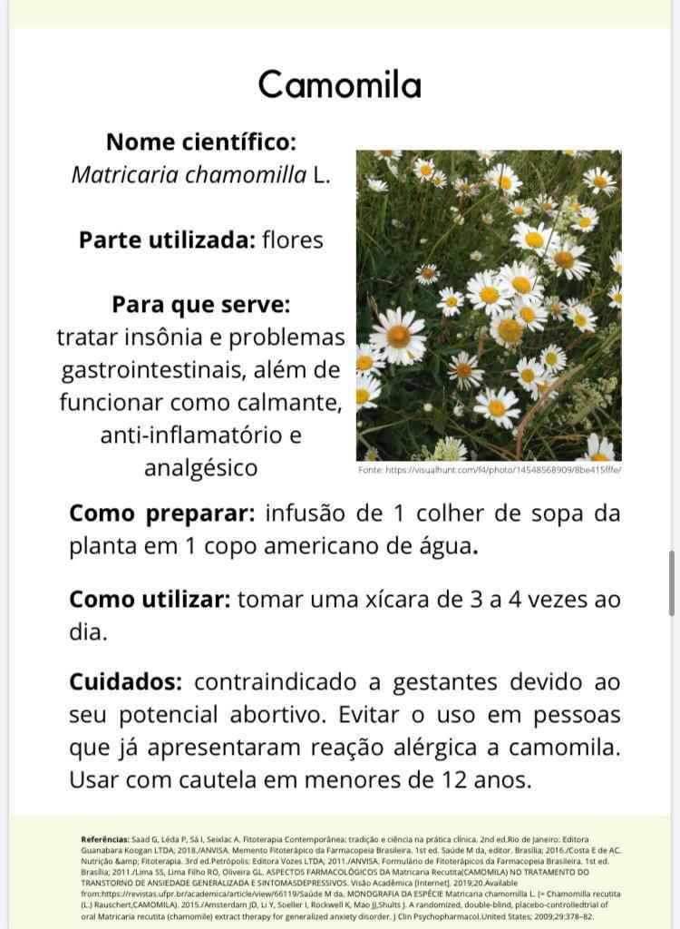 Páginas da cartilha contêm informações sobre finalidade, modo de preparo e utilização e contraindicações