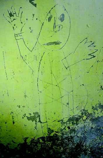 Desenho em parede do HNPI: melancolia