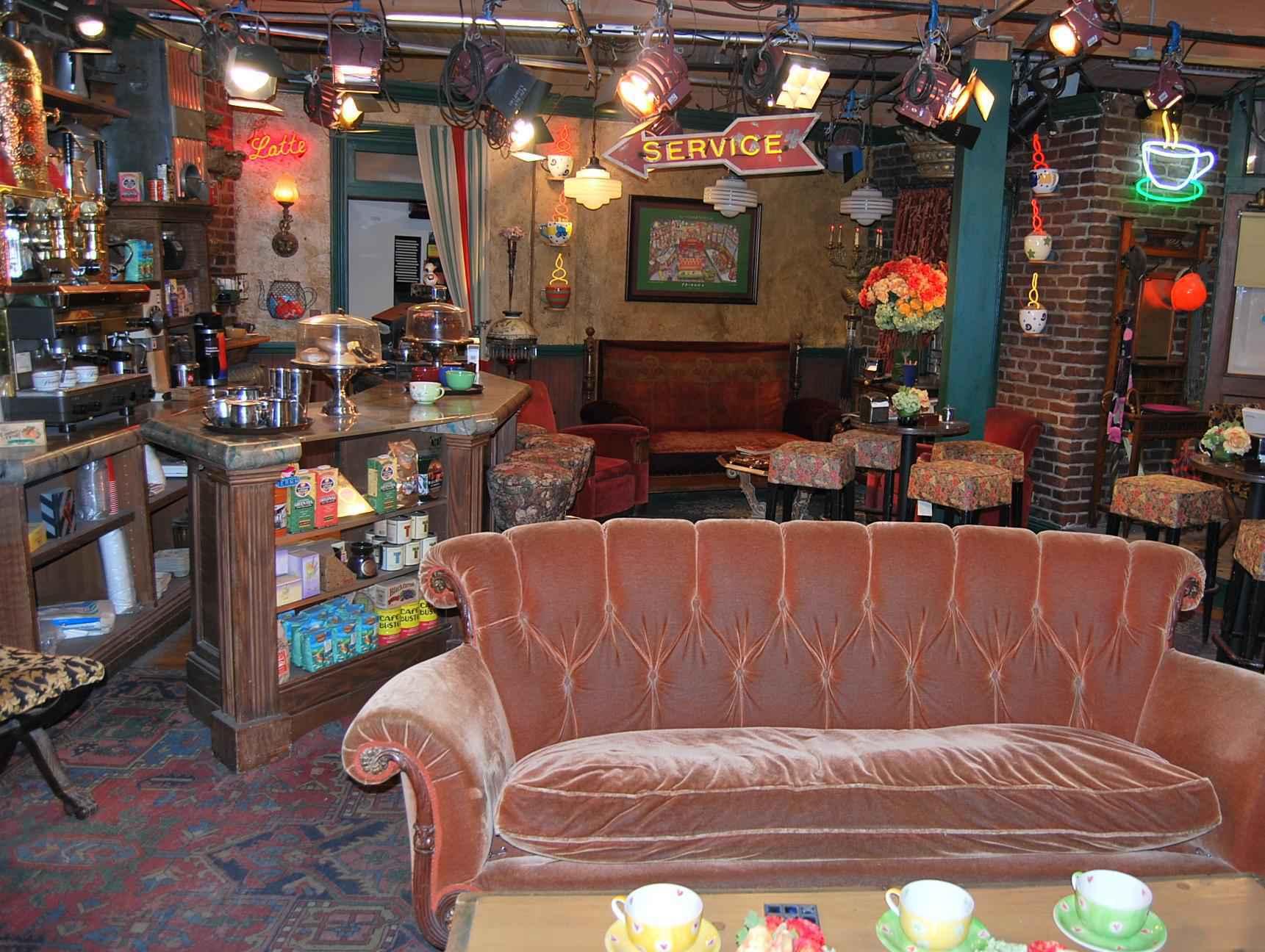 Set do café 'Central Perk', onde os amigos se reuniam, no Warner Bros. Studios