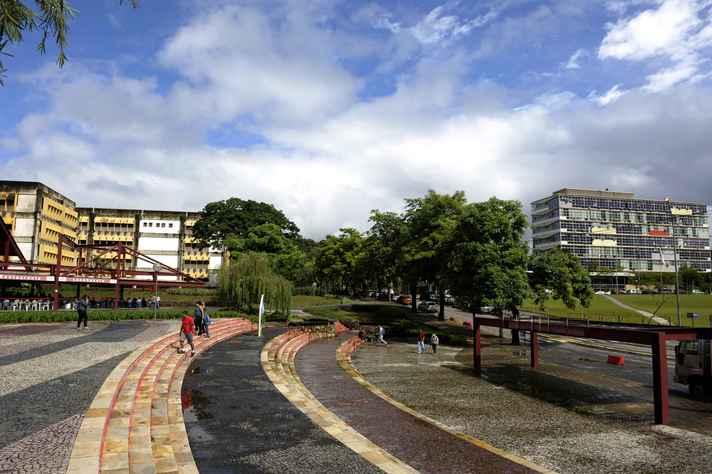 Estudantes no campus Pampulha