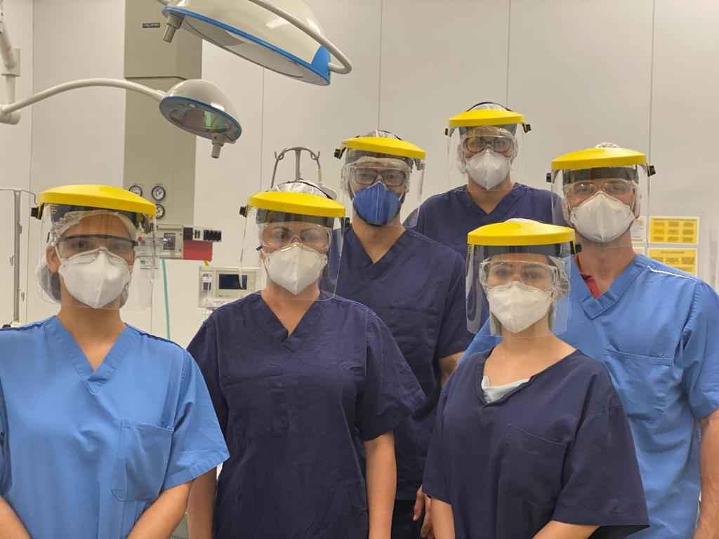 Grupo de anestesistas do Hospital Risoleta Tolentino Alves: