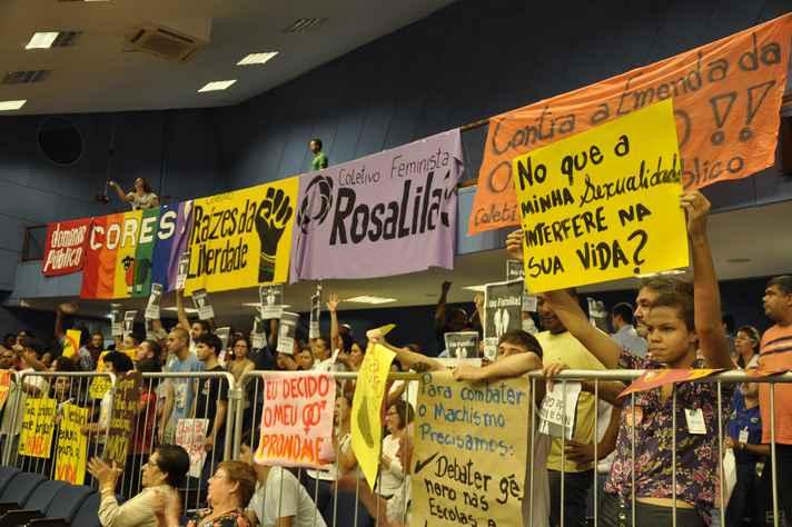 Manifestação em audiência pública na Câmara Municipal de Campinas, durante discussão de legislação semelhante à que avança em BH