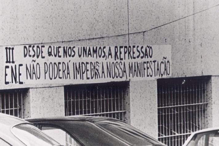 3º Encontro Nacional de Estudantes, realizado em 1977 no Campus Saúde da UFMG.