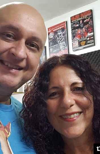 O idealizador do festival, Joel Júnior, e a baterista Vera Figueiredo