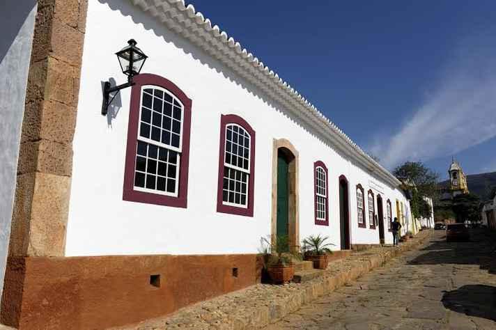 Fachada do Museu Casa Padre Toledo, em Tiradentes