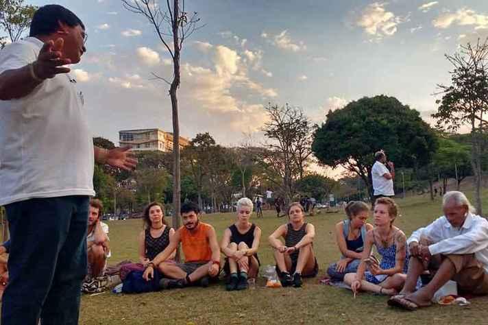 Aula da Formação Transversal em Saberes Tradicionais, no Campus Pampulha, em 2016