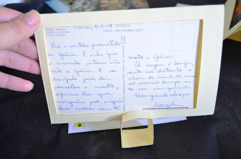 Cartão-postal enviado da Grécia pela professora Magda Neves à amiga Alaíde Lisboa
