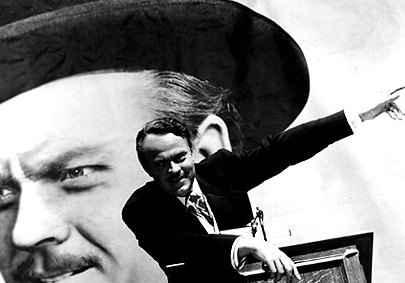 Orson Welles, em cartaz de divulgação de 'Citizen Kane'