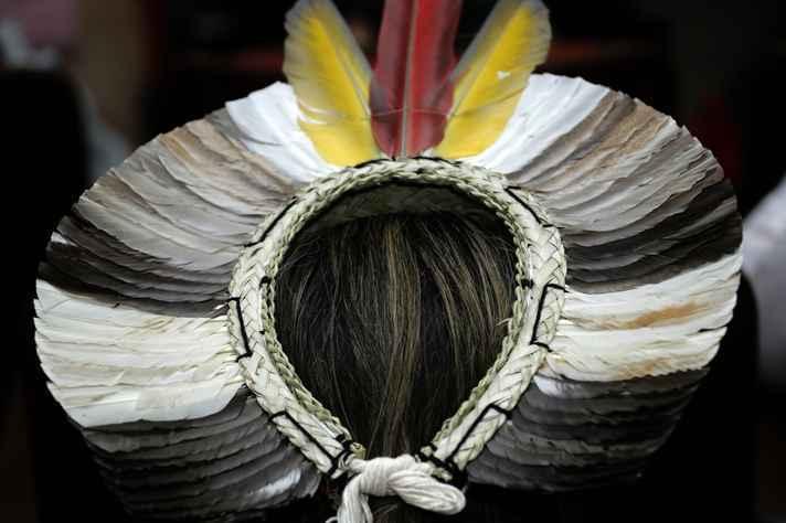 Estudante indígena