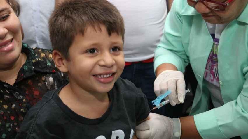 Segundo o Ministério da Saúde, 94% das crianças já foram vacinadas